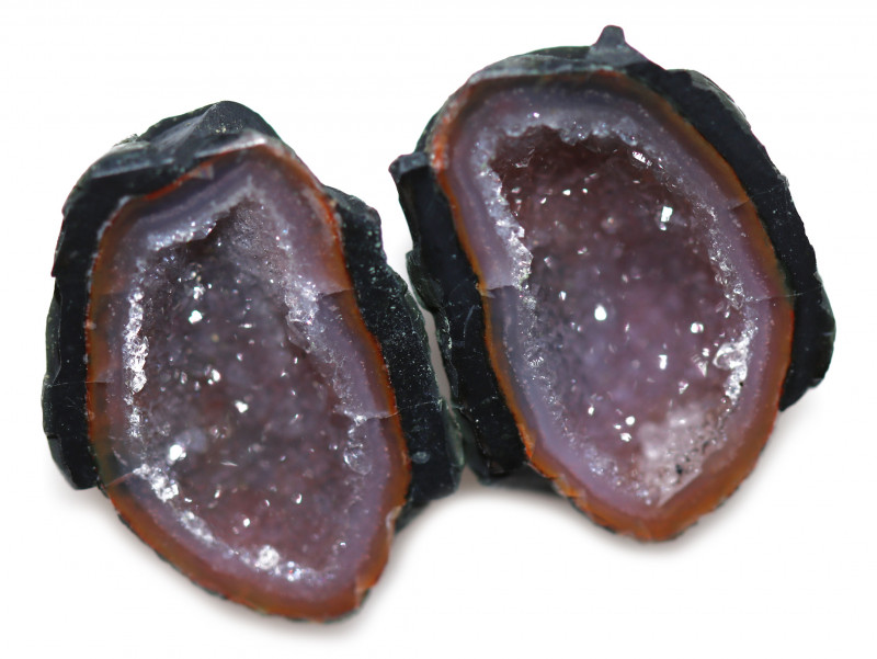 23.82 CTS GEODE PAIR ZACATECAS MEXICO-POLISHED  [MGW5540]