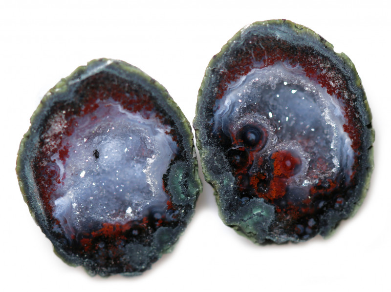 25.08 CTS GEODE PAIR ZACATECAS MEXICO-POLISHED  [MGW5548]