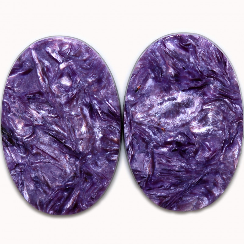 35.61 CTS CHAROITE PAIR STUNNING -RUSSIA-[STS1865]