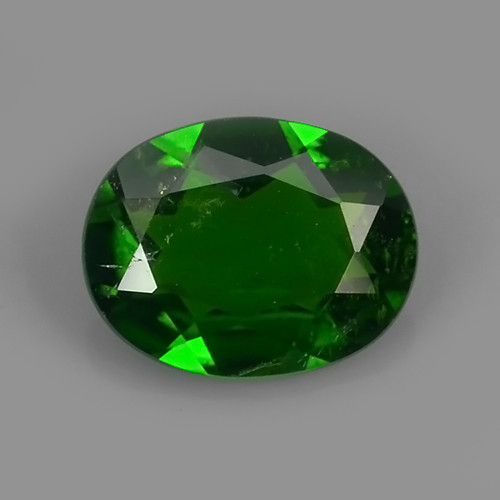 1.60 CTS NATURAL UNHEAT GENUINE LUSTROUS OVAL CHROME DIOPSIDE GEM!!