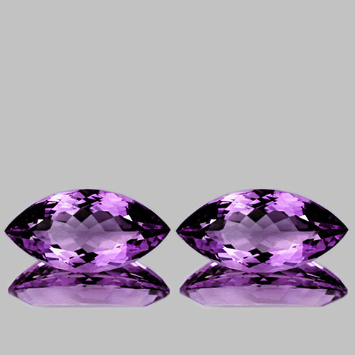12x6 mm Marquise 2 pcs  Pinkish Purple Amethyst [VVS]