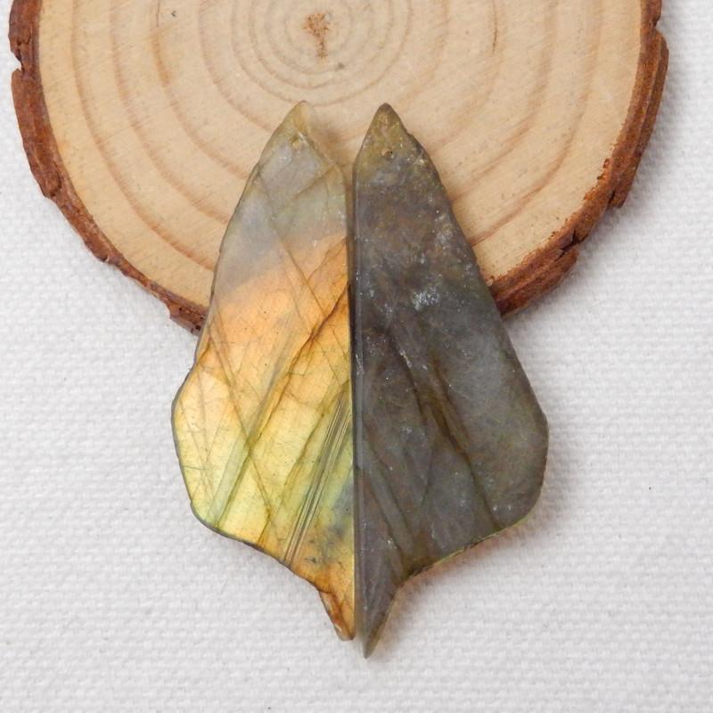49.5cts Nugget Labradorite Earrings gemstone earrings beads, stone for earr