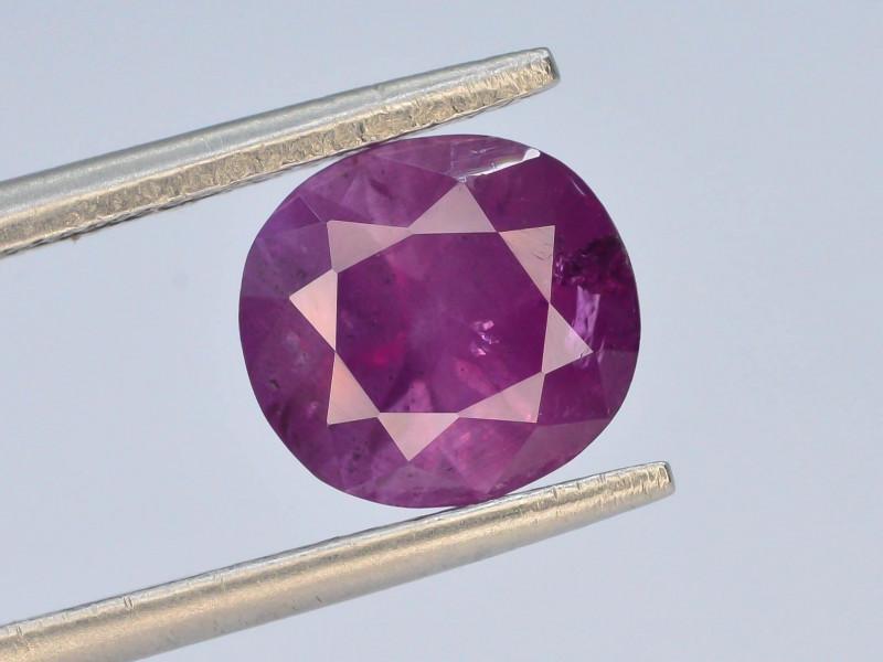 GSGC - CERT 2.60 ct Natural Purple Pink Corundum Kashmir Sapphire T