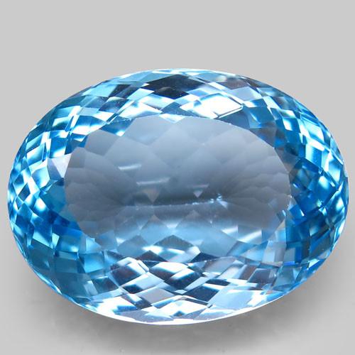 36.24 ct. 100% Natural Swiss Blue Topaz Top Quality Gemstone Brazil