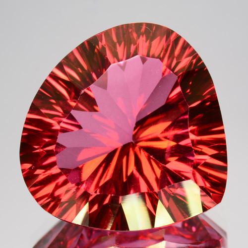 19.22 Cts Orange Pink Natural Topaz Pear Mix Heart Concave Cut Brazil