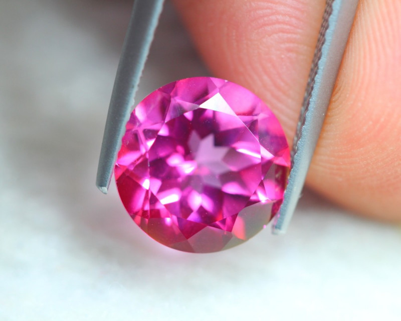 4.10Ct Natural Pink Topaz Round Cut Lot Z565