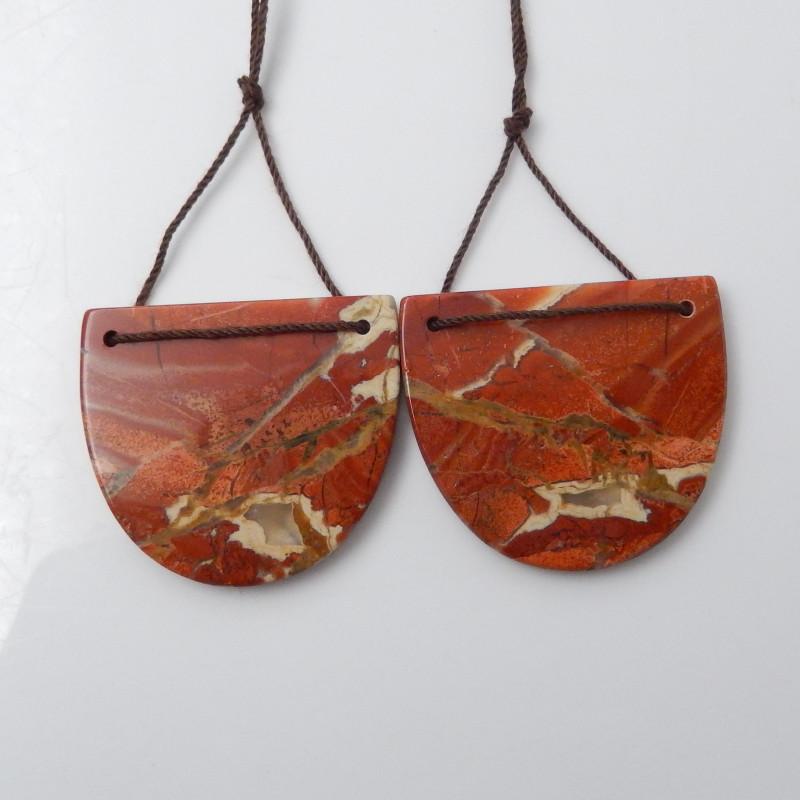 78.5cts Red River Jasper Earring Beads, stone for earrings making F532