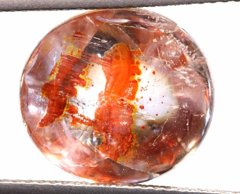 6.20 CTS KOI FISH QUARTZ FACETED STONE  BG-644