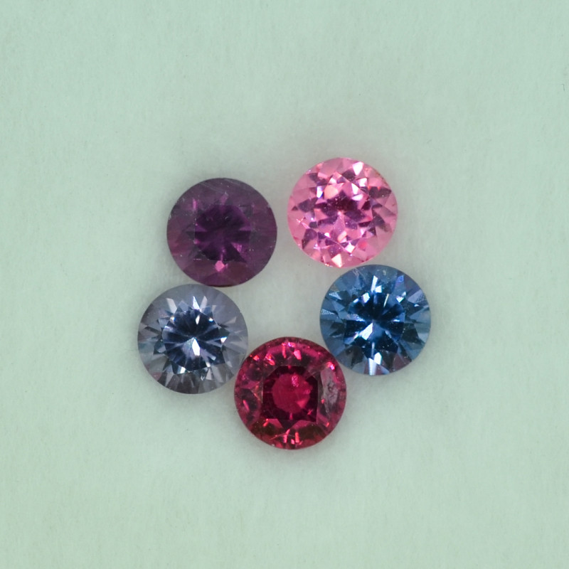 2.05 Cts Stunning Lustrous Round Multicolor Spinel Parcel
