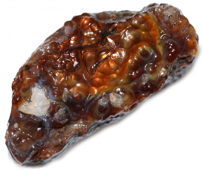156.40 CTS FIRE AGATE NATURAL SPECIMEN  [MGW5612]