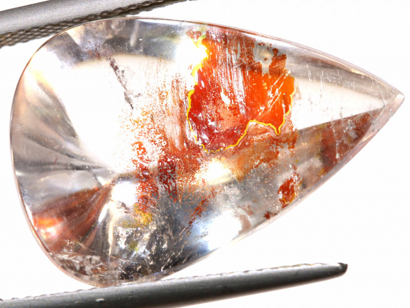 15.40 CTS KOI FISH QUARTZ FACETED STONE  BG-683