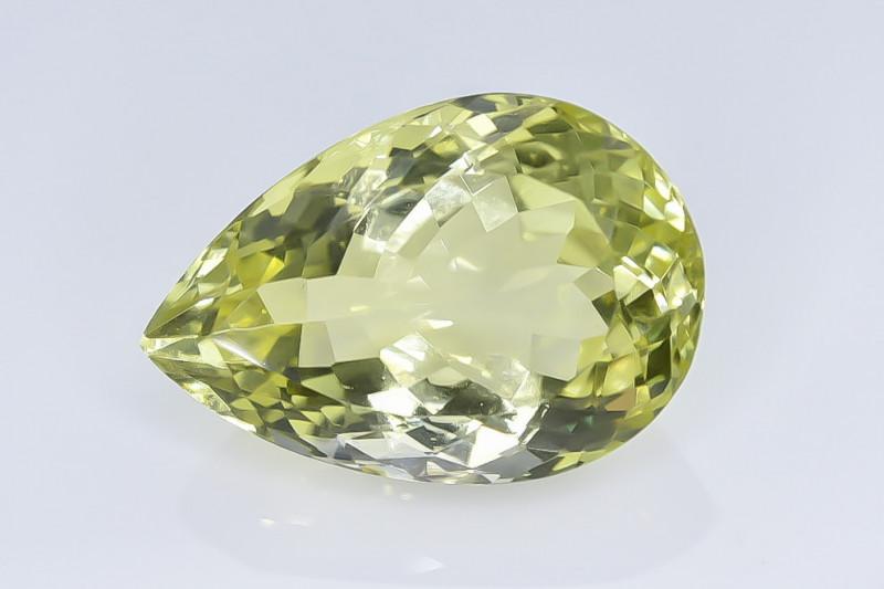 13.47 Crt Natural Lemon Quartz Faceted Gemstone.( AB 39)