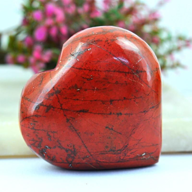 Genuine 355.00 Cts Red Jasper Heart Shape Gem