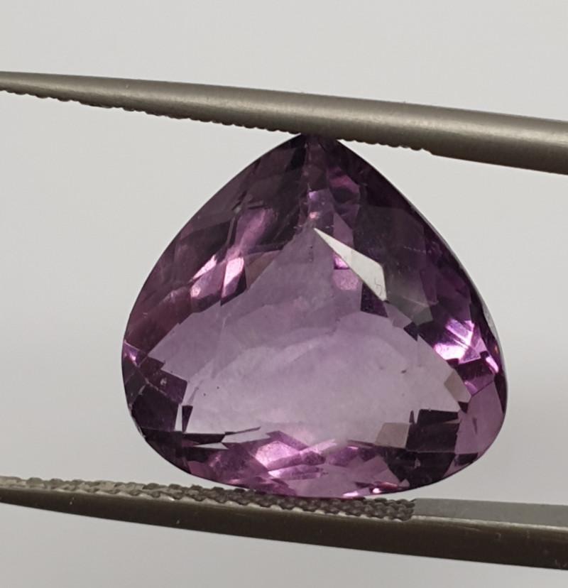 12.13Ct Purple Fluorite Drop15x14.2mm ( SKLU 18)