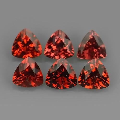 3.35 Cts_Marvelous Trillion Cut Natural Rhodolite_~Parcel!!