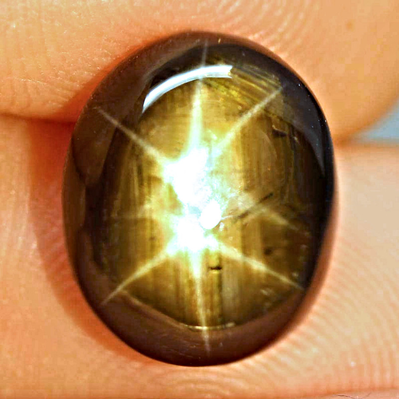 10.62 Ct. Genuine 2 Star Black Thailand Sapphire - Gorgeous