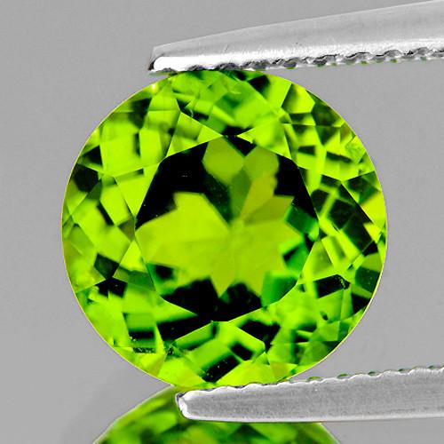 7.00 mm Round 1.30cts Green Peridot [VVS]