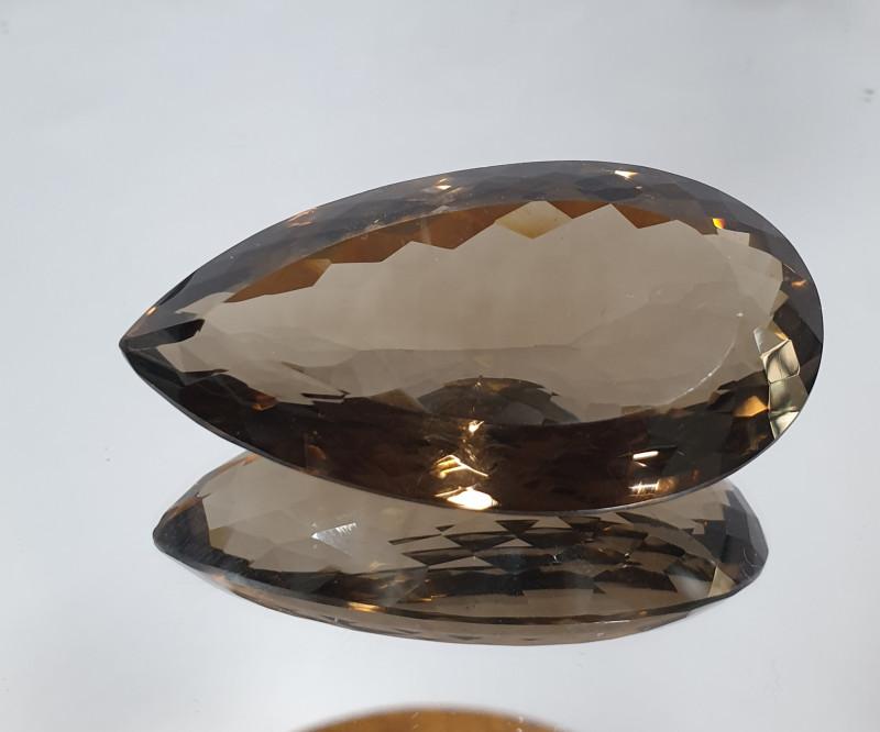 Huge 181.12 ct Smoky Quartz Pear Drop 54.5x28.8mm(SKU162)