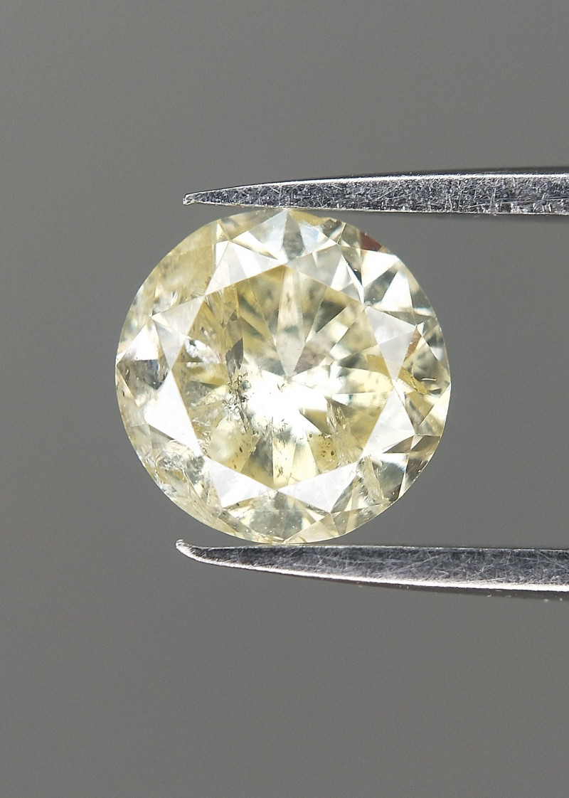 0.47 Cts , Antique natural diamond , Light Yellow Gemstone