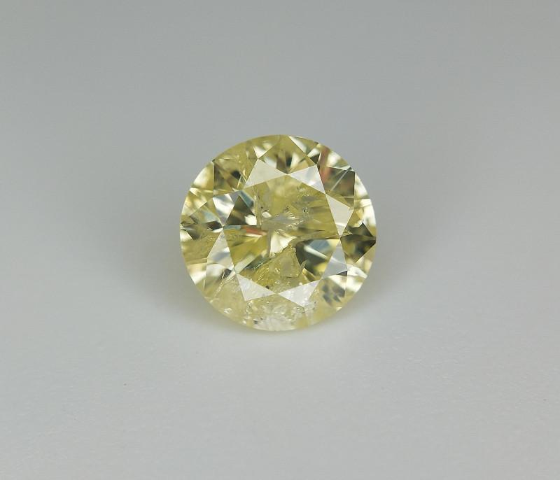 0.47 , Rare natural diamond , Round Yellow Diamond