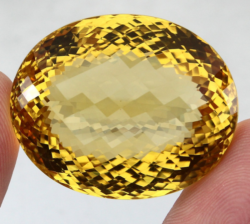 131.65 Ct. 100% Natural Top Yellow Golden Citrine Unheated Brazil Big!
