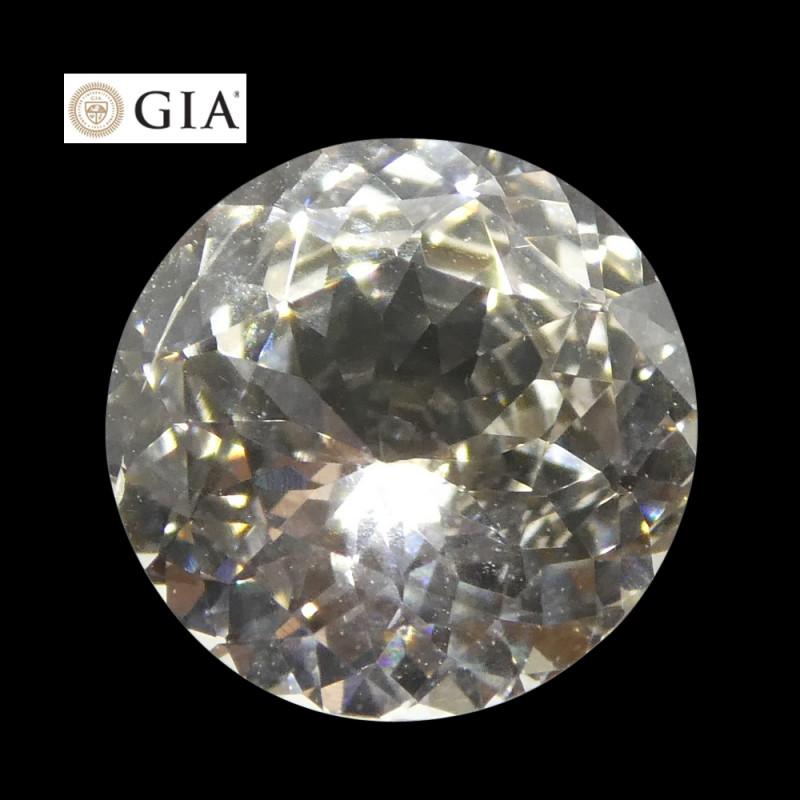 1.84 ct Round White Sapphire GIA Certified