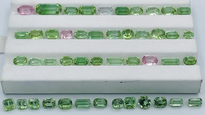 46.50 Carats Natural Mixed Color Tourmaline Gemstones Parcel