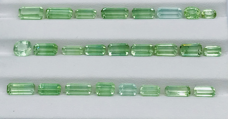27.50 Carats Natural Color Tourmaline Gemstone Parcel