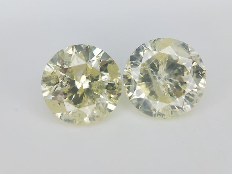 1.44 cts ,Diamonds Pair , Diamonds for earings