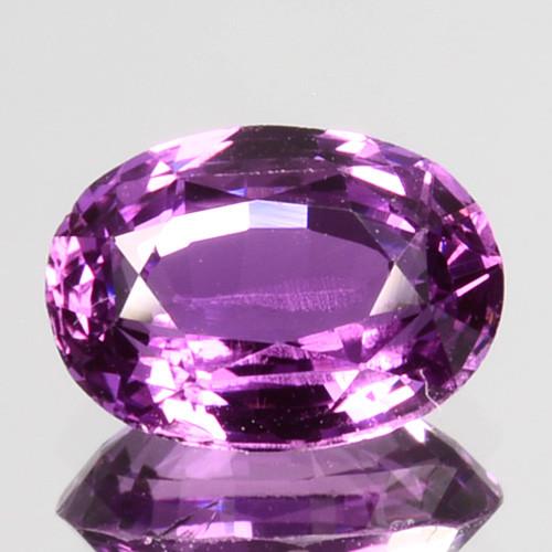 ~AIG~ 1.07 Cts Natural Purple Sapphire Unheated Oval Cut Sri Lanka