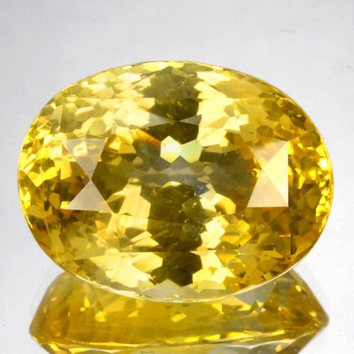 Beautiful!!!  13.44 Cts Natural Yellow Sapphire Oval Cut Sri Lanka
