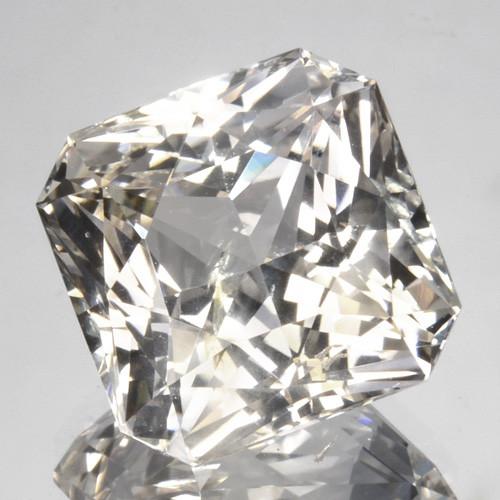 White sapphire gemstone