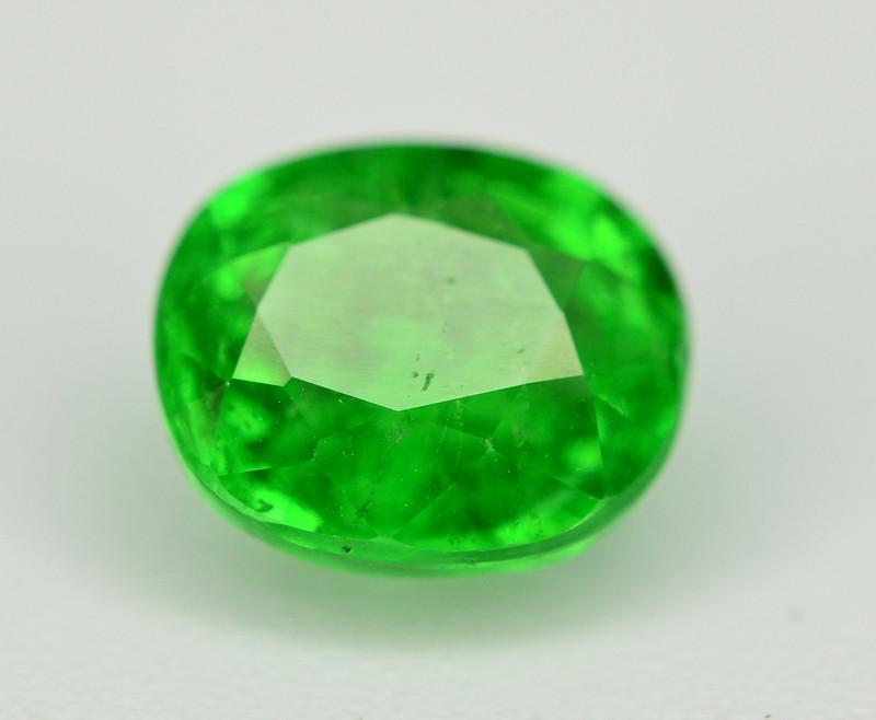 Amazing 1.70 Ct Natural Intense Vivid Green Color Tsavorite Garnet