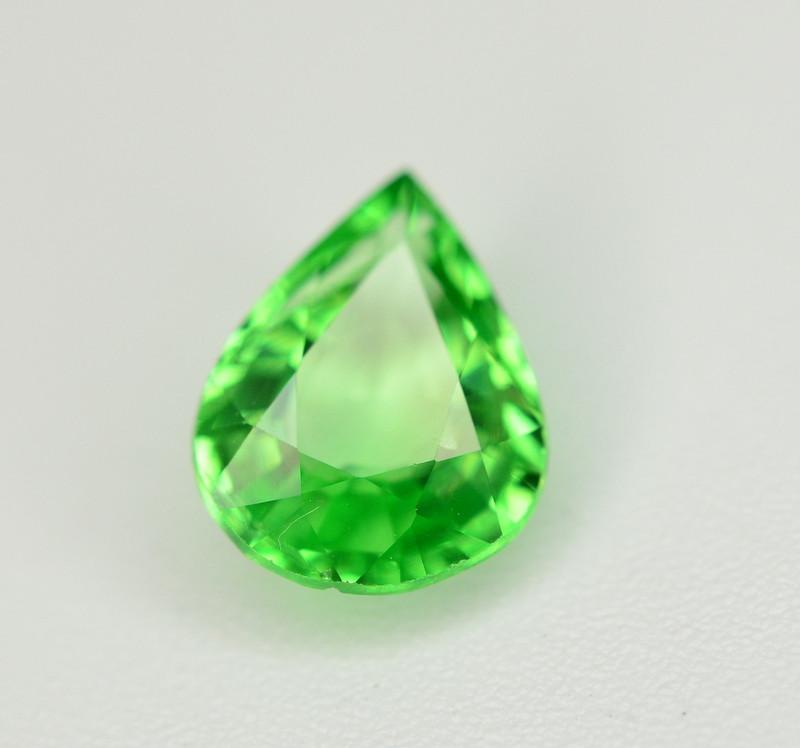 Amazing 1.30 Ct Natural Intense Vivid Green Color Tsavorite Garnet