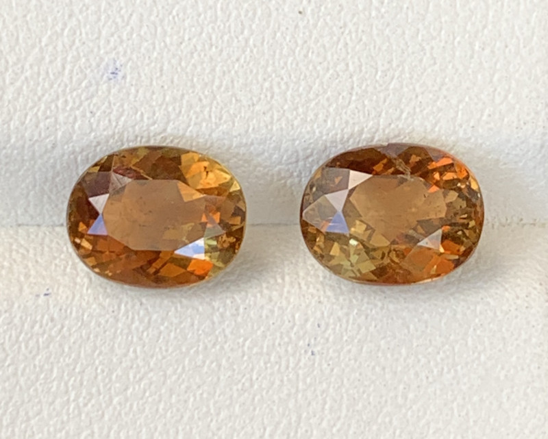 5 Carats  Pair Pieces Natural Double Shade Color Andalusite Gemstones