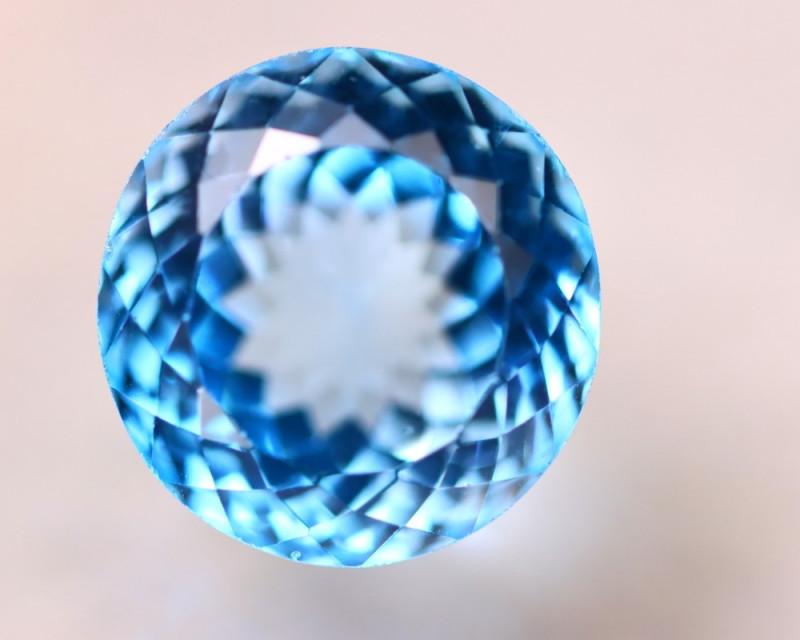 25.81Ct Natural Swiss Blue Topaz Round Cut Lot LZ5694