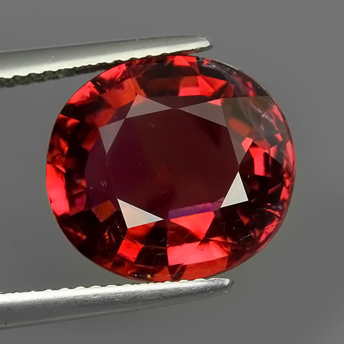 7.65 CTS UNIQUE FACET EXCELLENT LUSTER TOP PINKISH~RED TOURMALINE~