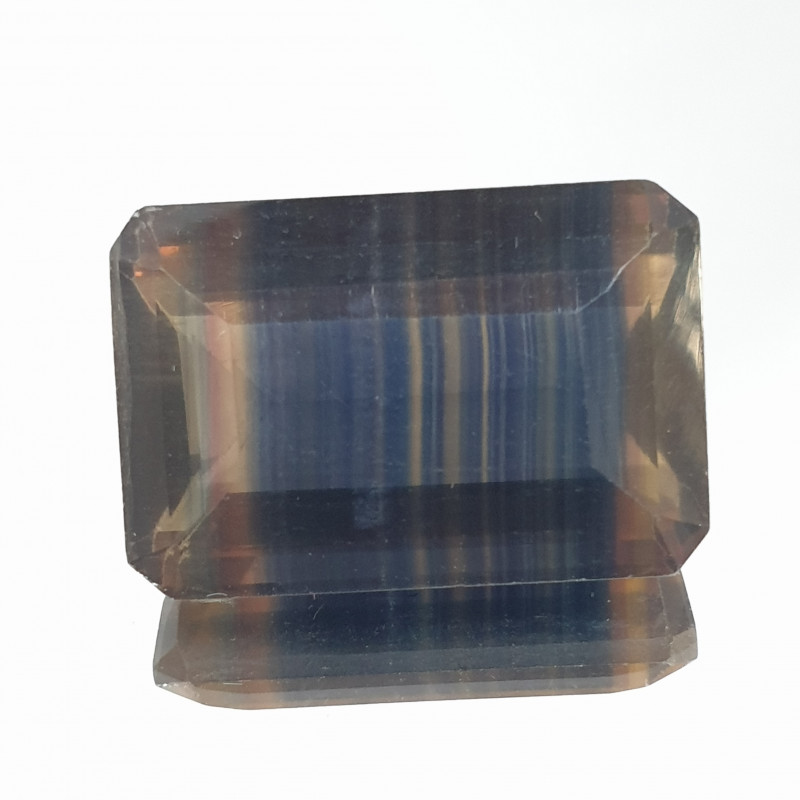 66.58 Ct  Banded Fluorite Octagon 27x18mm(SKU 152)