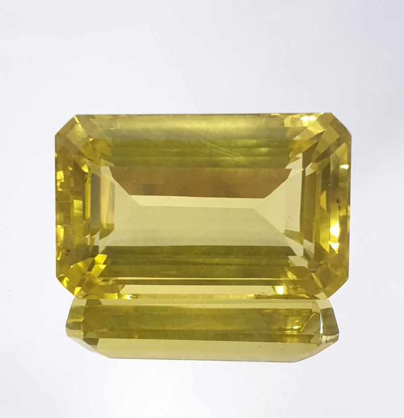 118.96ct Octagon Lemon Quartz  35.7x22.4mm Big Size(SKU 151)