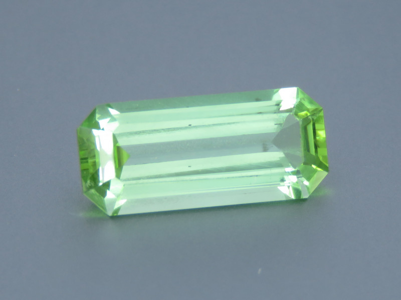 3.43 Carat Excellent Cut Natural Green Tourmaline from Afghanistan