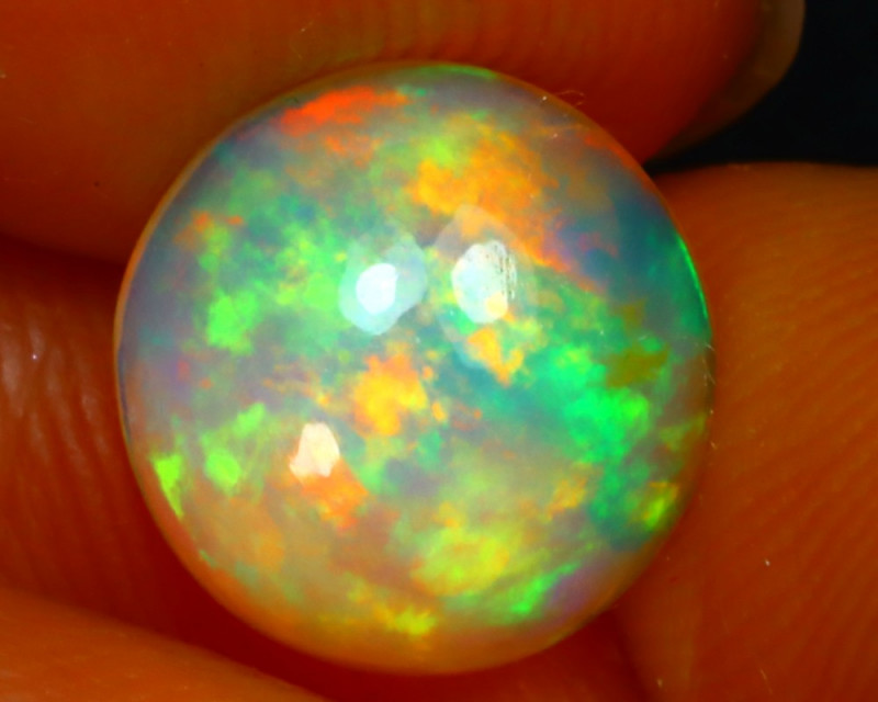 Welo Opal 2.05Ct Natural Ethiopian Play of Color Opal ER28
