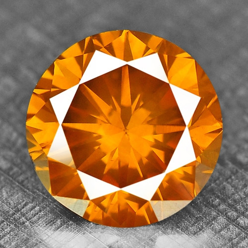 0.32 Cts Untreated Fancy Orange Color Natural Loose Diamond