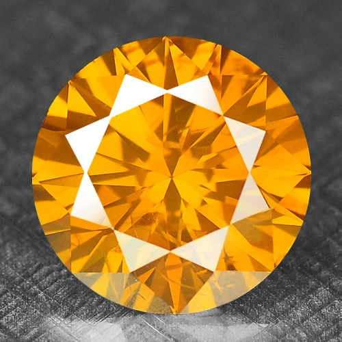 0.33 Cts Untreated Fancy Yellowish Orange Color Natural Loose Diamond