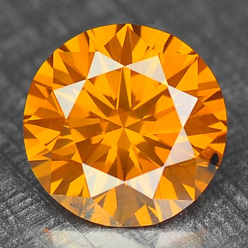 0.38 Cts Untreated Fancy Orange Color Natural Loose Diamond