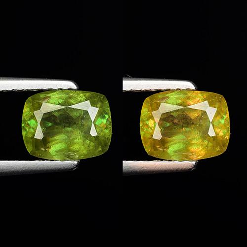 1.38 Ct Natural Sphene Color Change Sparkiling Luster Gemstone. SN 52