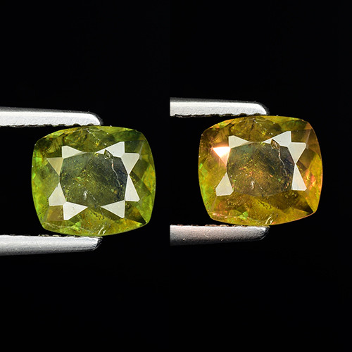 1.23 Ct Natural Sphene Color Change Sparkiling Luster Gemstone. SN 54