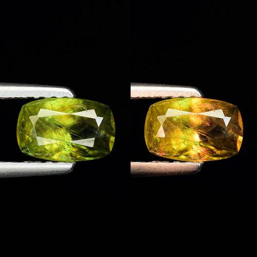 0.73 Ct Natural Sphene Color Change Sparkiling Luster Gemstone. SN 60