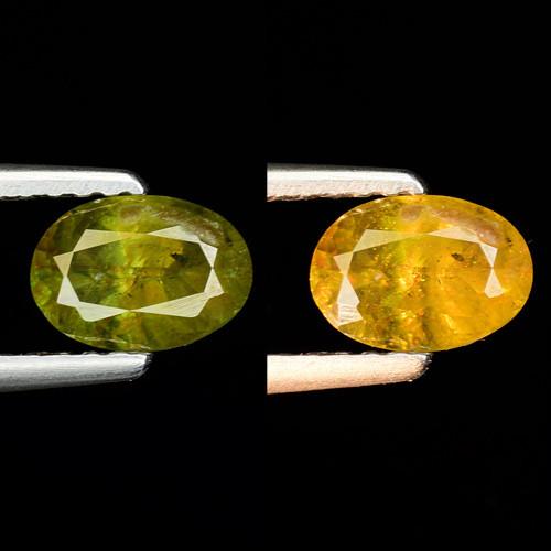 0.85 Ct Natural Sphene Color Change Sparkiling Luster Gemstone. SN 63