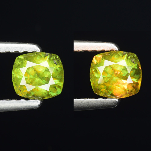0.57 Ct Natural Sphene Color Change Sparkiling Luster Gemstone. SN 68