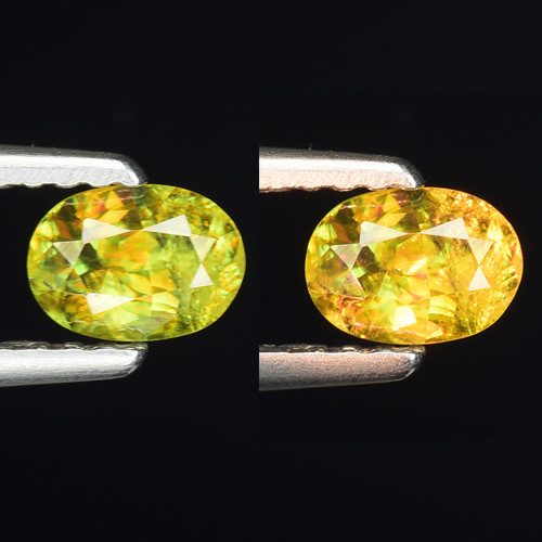 0.48 Ct Natural Sphene Color Change Sparkiling Luster Gemstone. SN 70